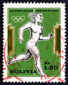 Postage stamp Bolivia 1969 Woman Runner — Stock Photo