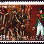 Постер, плакат: Postage stamp Equatorial Guinea 1972 Napoleon Bonaparte in Spain