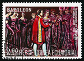 Postage stamp Equatorial Guinea 1972 Wedding of Napoleon and Mar — Stock Photo