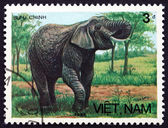 Postage stamp Vietnam 1986 Asian Elephant — Stock Photo