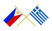 Flags, Philippines and Greece — Stock Photo