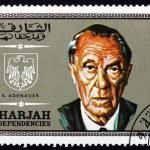 Постер, плакат: Postage stamp Spain 1969 Konrad Adenauer German Statesman