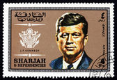 Postage stamp Spain 1969 John Fitzgerald Kennedy, US President — Stock Photo