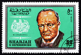 Postage stamp Spain 1969 Winston Churchill, British Politician — Stock Photo