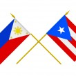 Flags, Philippines and Puerto Rico — Stock Photo