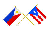 Flags, Philippines and Puerto Rico — Stockfoto