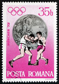 Postage stamp Romania 1972 Boxing, Silver Medal — Stock Photo