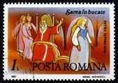 Postage stamp Romania 1987 Scene from Fairy Tale — Stockfoto