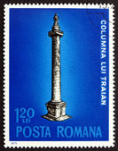 Postage stamp Romania 1975 Trajans Column, Rome — Stock Photo
