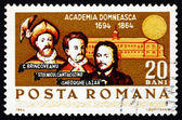 Postage stamp Romania 1964 Anniversary of the Royal Academy — Stock Photo