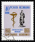 Postage stamp Romania 1966 Statue of Ovid — Stock Photo