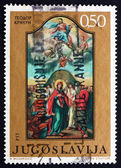 Postage stamp Yugoslavia 1970 Ascension, by Teodor D. Kracum — Stock Photo