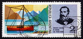 Postage stamp Argentina 1975 Luis Piedrabuena and Cutter, Luisit — Stock Photo