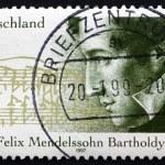 Постер, плакат: Postage stamp Germany 1997 Felix Mendelssohn Bartholdy Composer