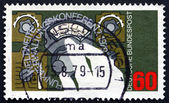 Postage stamp Germany 1979 Hand Setting Radio Dial — Стоковое фото