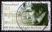 Postage stamp Germany 1997 Felix Mendelssohn Bartholdy, Composer — Stock Photo