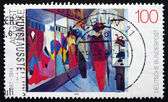 Postage stamp Germany 1992 Fashion Shop, by August Macke — Stock Photo