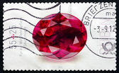 Postage stamp Germany 2012 Ruby, Precious Stone — ストック写真