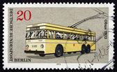 почтовая марка германии 1973 electrobus, 1933 — Стоковое фото