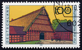 Postage stamp Germany 1995 Farmhouse, Lower Germany — Stock Photo