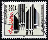Postage stamp Germany 1987 Organ Pipes and Signature — Stock Photo