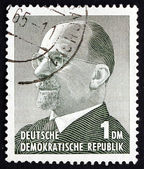 Postage stamp GDR 1963 Chairman Walter Ulbricht — Stock Photo