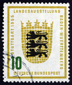 Postage stamp Germany 1955 Arms of Baden-Wurttemberg — Stock Photo