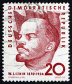 Postage stamp GDR 1960 Vladimir Lenin, Portrait — Stock Photo