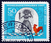 Postage stamp Germany 1967 Girl Covered with Resin, Scene from M — Stock Photo