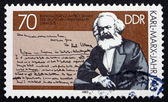 Postage stamp GDR 1983 Karl Marx, Portrait — Stock Photo