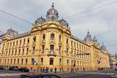 Croatian Railways Administration Building in Zagreb — Stock Photo