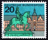 Postage stamp Germany 1964 Jan Wellem Statue, Dusseldorf — Stock Photo