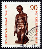 Postage stamp Germany 1981 Flora Kneeling, by Richard Scheibe — Stock Photo