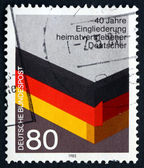 Postage stamp Germany 1985 Reintegration of German WWII Refugees — Stock Photo