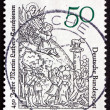 Постер, плакат: Postage stamp Germany 1979 Moses Receiving Tablets of the Law