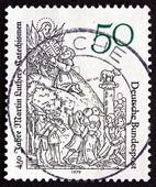 Postage stamp Germany 1979 Moses Receiving Tablets of the Law — Stock Photo