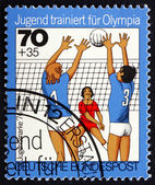 Postage stamp Germany 1976 Volleyball, Team Sport — Stock Photo