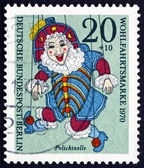 Postage stamp Germany 1970 Polichinelle, Puppet — 图库照片