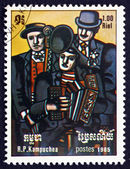 Postage stamp Cambodia 1985 Three Musicians, by Fernand Leger — Stock Photo