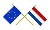 Flags, Netherlands and European Union — Stock Photo