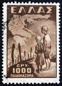 Postage stamp Greece 1949 Concentration Camp — Stock Photo