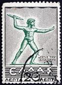 Postage stamp Greece 1937 Zeus of Dodona, Statue — Stock Photo