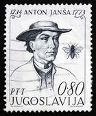 Postage stamp Yugoslavia 1973 Anton Jansa, Teacher — Stock Photo
