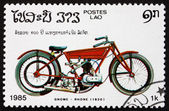 Postage stamp Laos 1985 Gnome Rhone, 1920, Motorcycle — Stock Photo