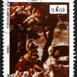 Постер, плакат: Postage stamp Cambodia 1985 Martyrdom of St Peter Martyr