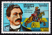Postage stamp Cambodia 1986 Emanuel Lasker, Chess Champion — Stock Photo