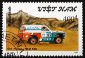 Postage stamp Vietnam 1991 Nissan, Rally Car — Stock Photo