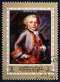 Postage stamp Ajman 1972 Wolfgang Amadeus Mozart as Child — Stock Photo
