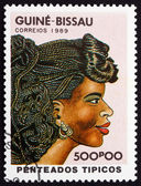 Postage stamp Guinea-Bissau 1989 Womens Hairstyle — Stock Photo