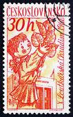 Postage stamp Czechoslovakia 1961 Puppets, Toys — Stock Photo